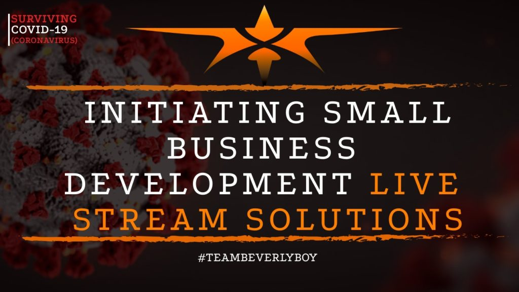 title initiating small business development live stream