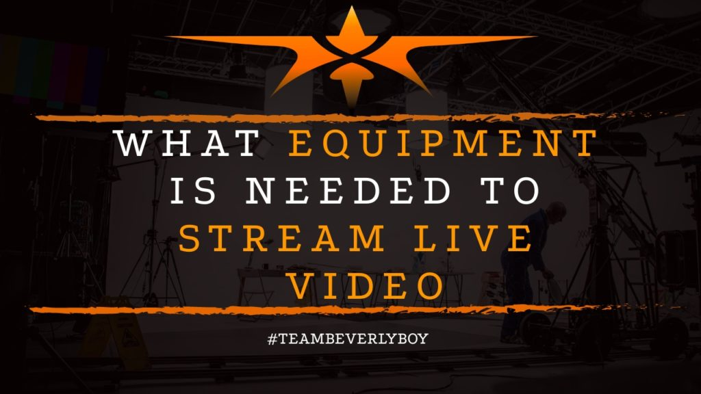 title equipment to live stream video