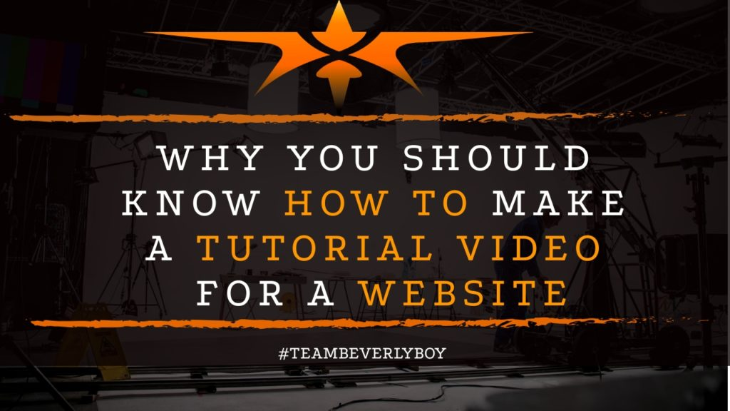 title how to create a tutorial video for a website