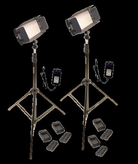 Bescor FP-312K 2-Point LED Light Kit-Transparent
