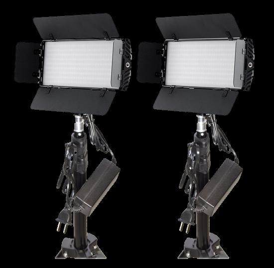 Bescor Photon LED 2-Light Kit-Transparent