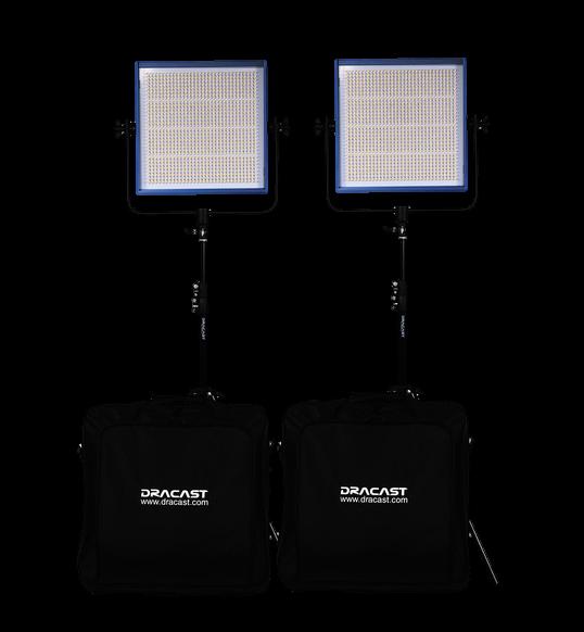 Dracast LED1000 Pro LED 2-Light Kit-Transparent