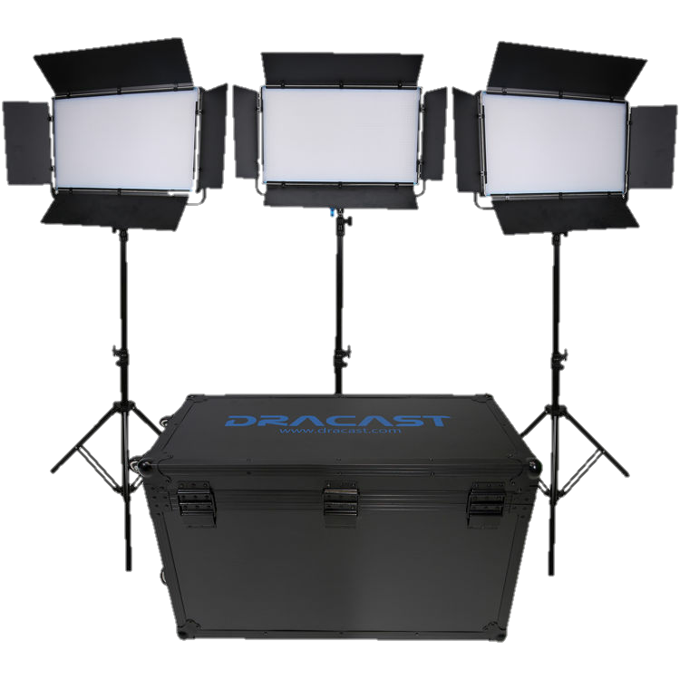 Dracast LED2000 Kala LED 3-Light Kit-Transparent