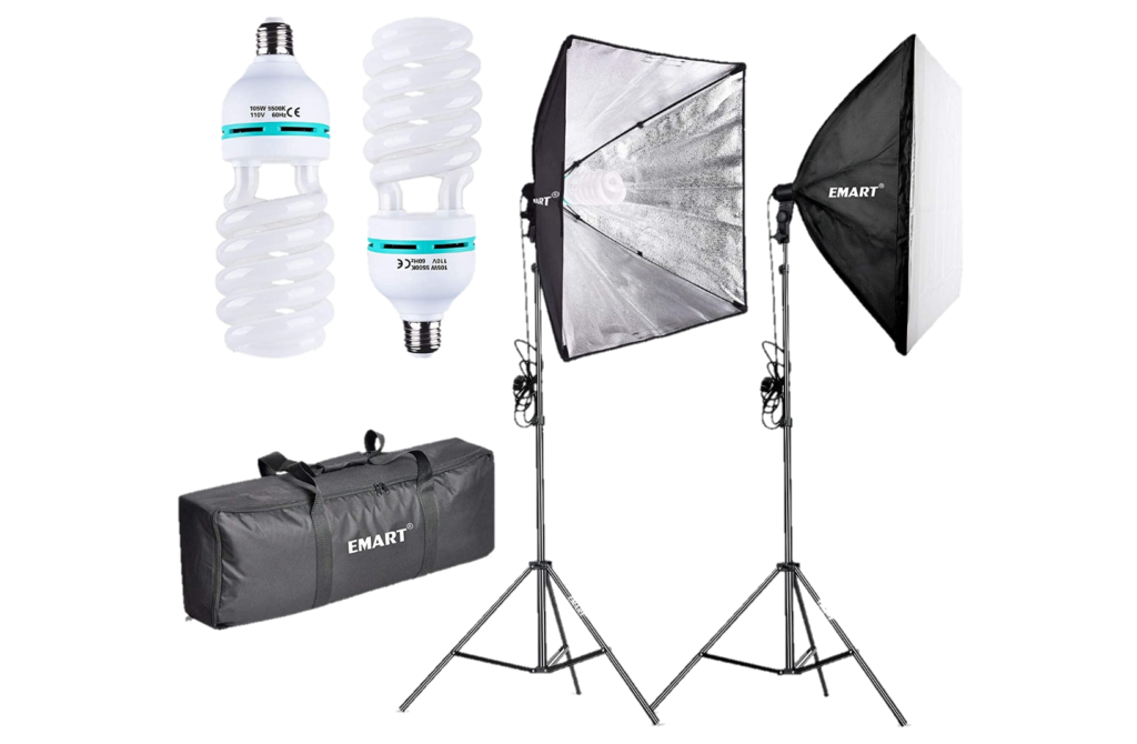 Emart Softbox Studio Equipment Lighting Kit-Transparent