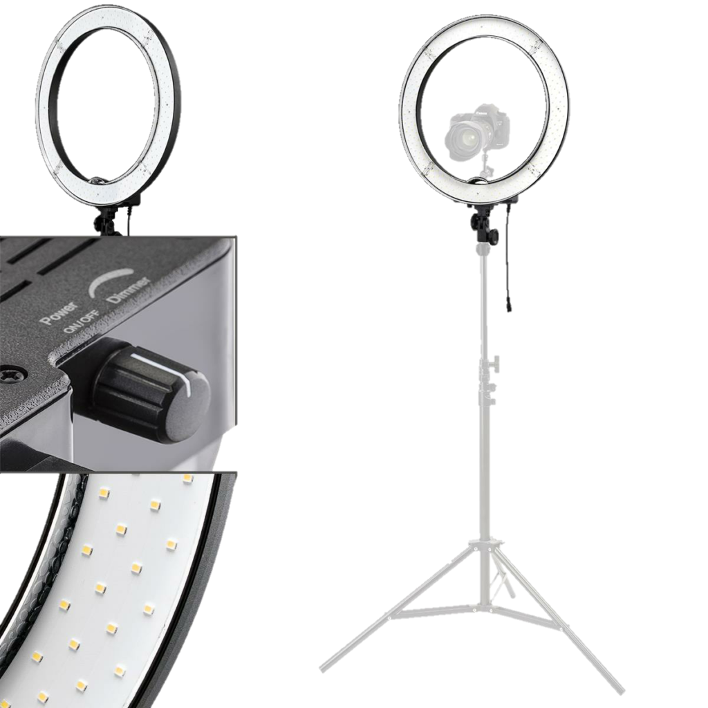 "Flashpoint 13"" 42W 5500K LED AC Powered Ring Light2- Transparent"