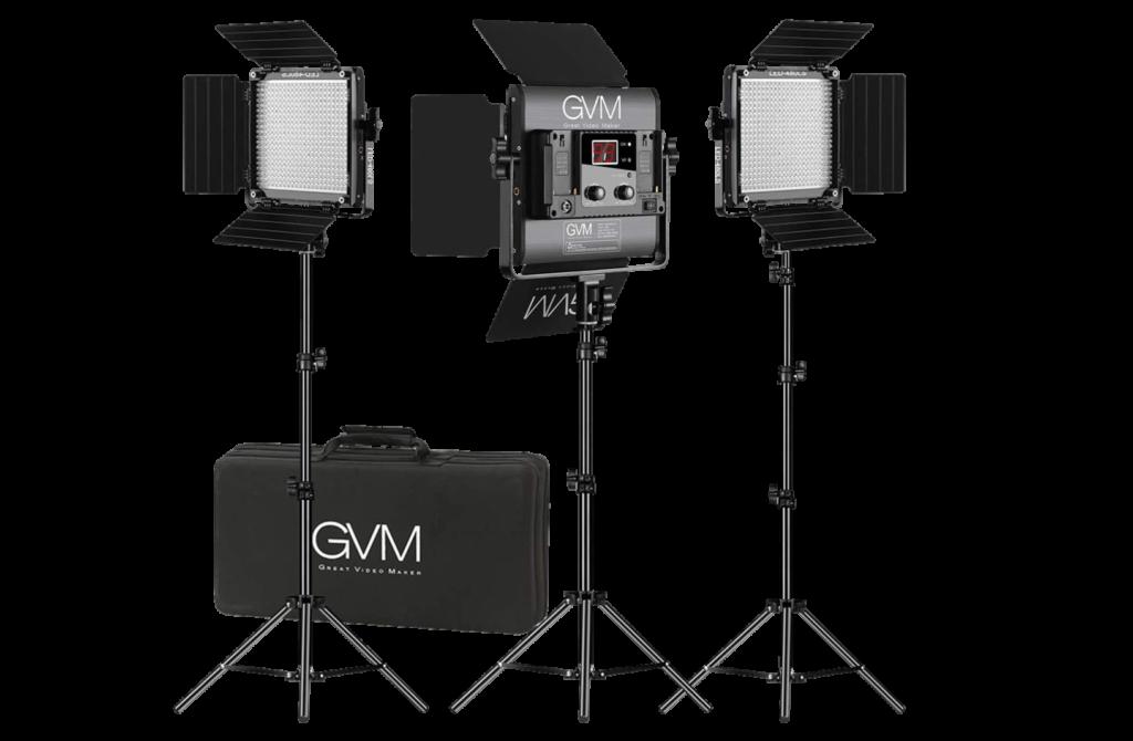 GVM Dimmable Bi-Color LED Light Kit- Transparent