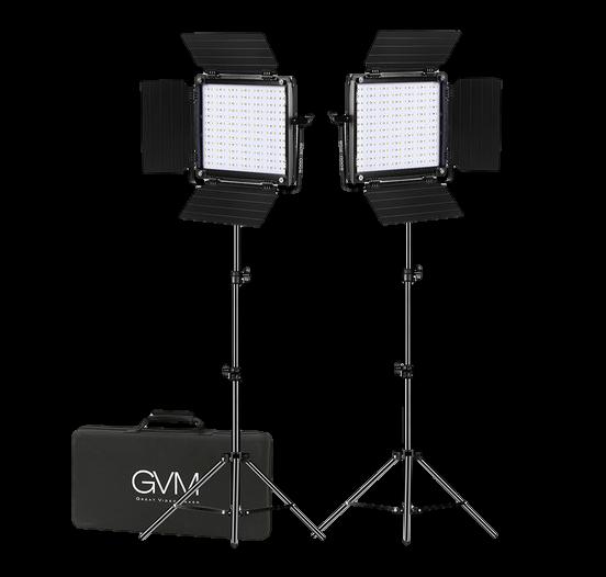 GVM RGB LED Video Lighting Kit 800D Studio-Transparent
