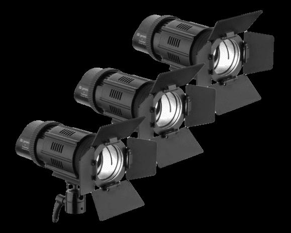 Genaray Contender LED Spot 3-Light Kit-Transparent