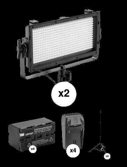 Genaray Spectro Essential 500 2-Lights-Transparent