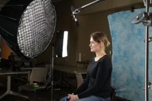 camera crew filming testimonials profile