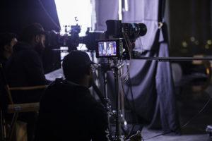 Videographer Prepping Camera Gear 350