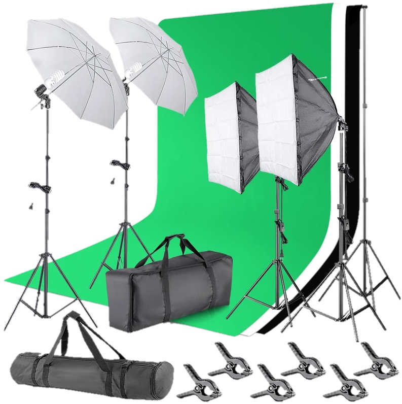 Neewer Background Support-System & Lighting Kit-Transparent