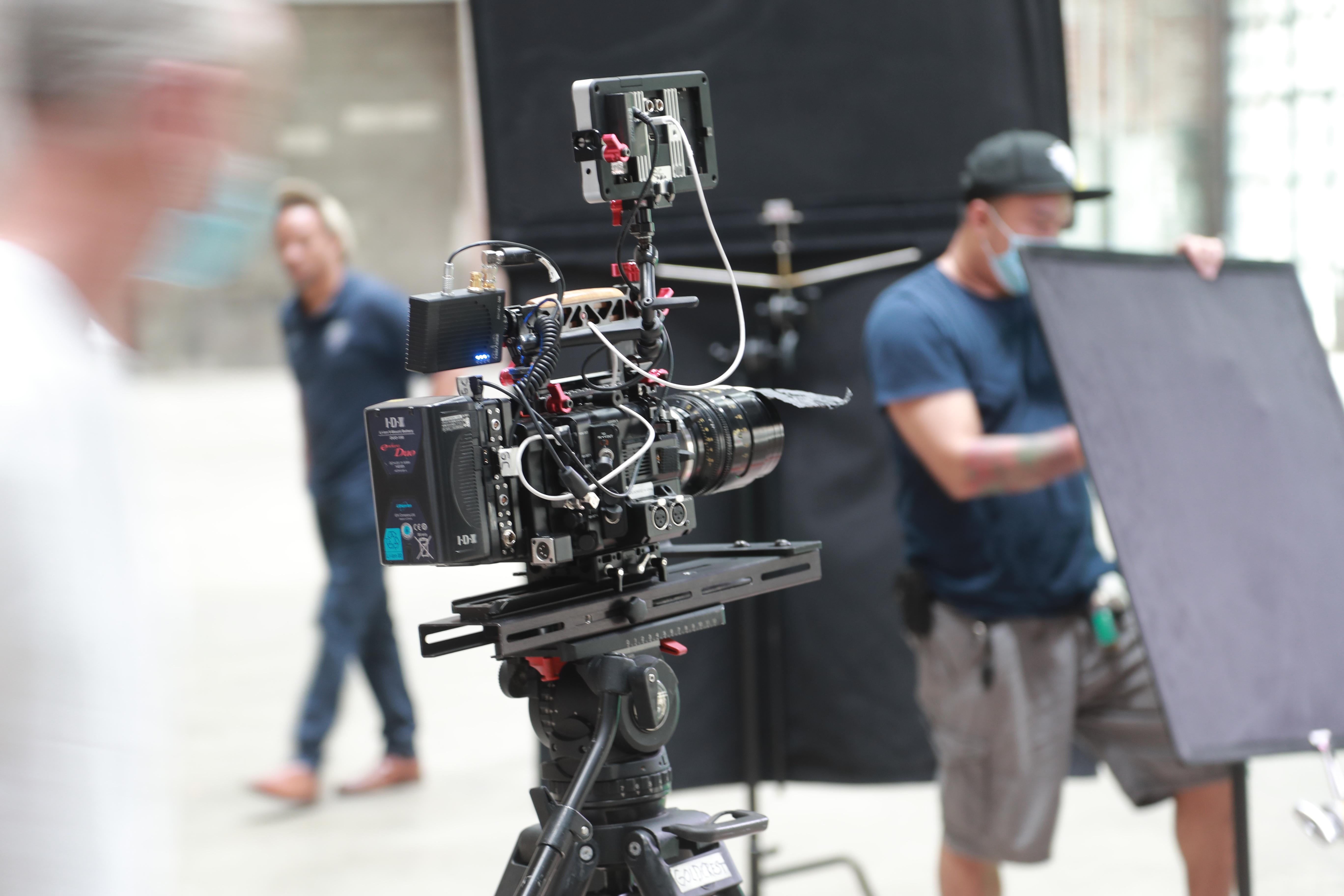 Beverly Boy camera crew on set