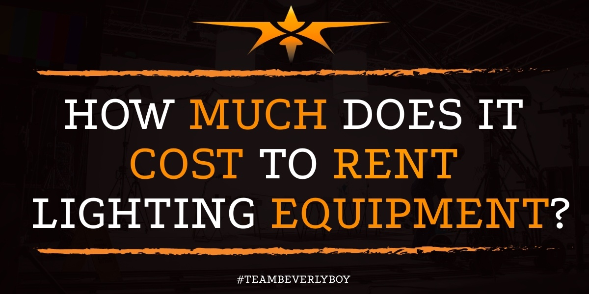 How Much Does it Cost to Rent Lighting Equipment