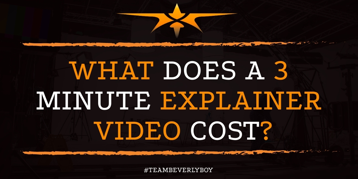 What Does a 3 Minute Explainer Video Cost