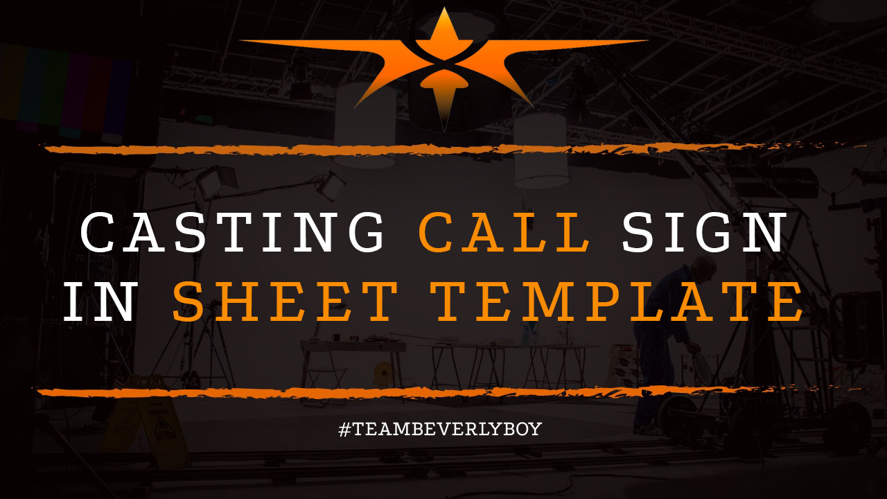 Casting Call Sign in Sheet Template