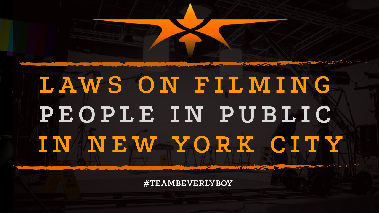 Laws on Filming People in Public in New York City