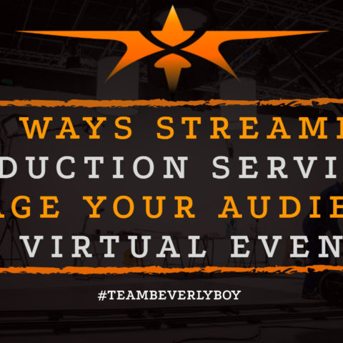 Top Ways Streaming Production Services Engage Your Audience at Virtual Events