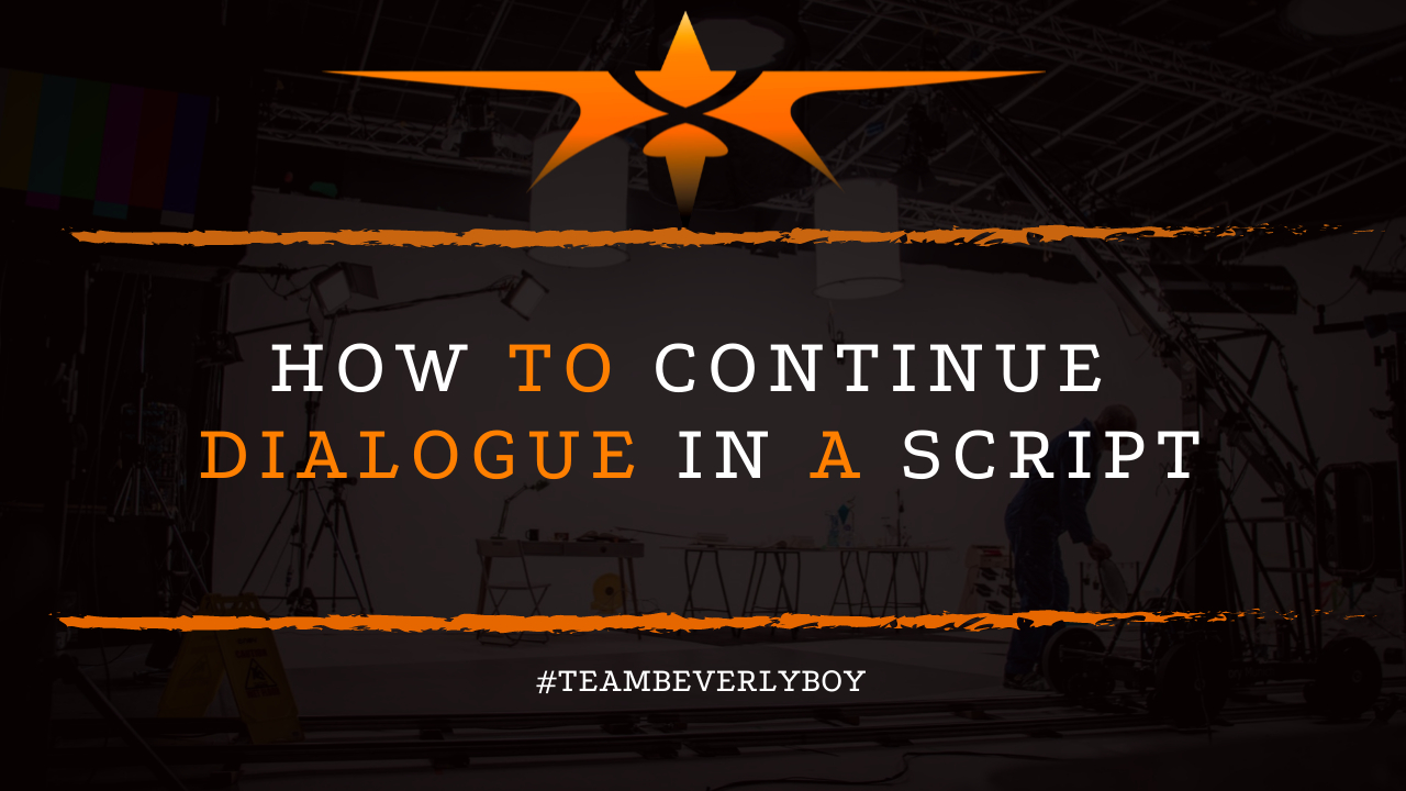 How to Continue Dialogue in a Script